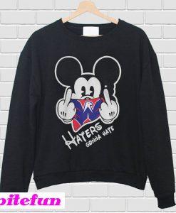 Washington Capitals Mickey haters gonna hate Sweatshirt