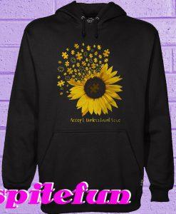 Autism sunflower Accept understand love Hoodie