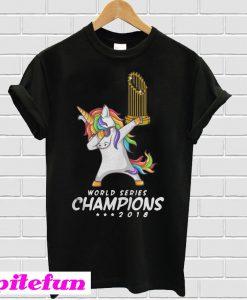 Unicorn Boston Red Sox World Series Champions 2018 T-Shirt