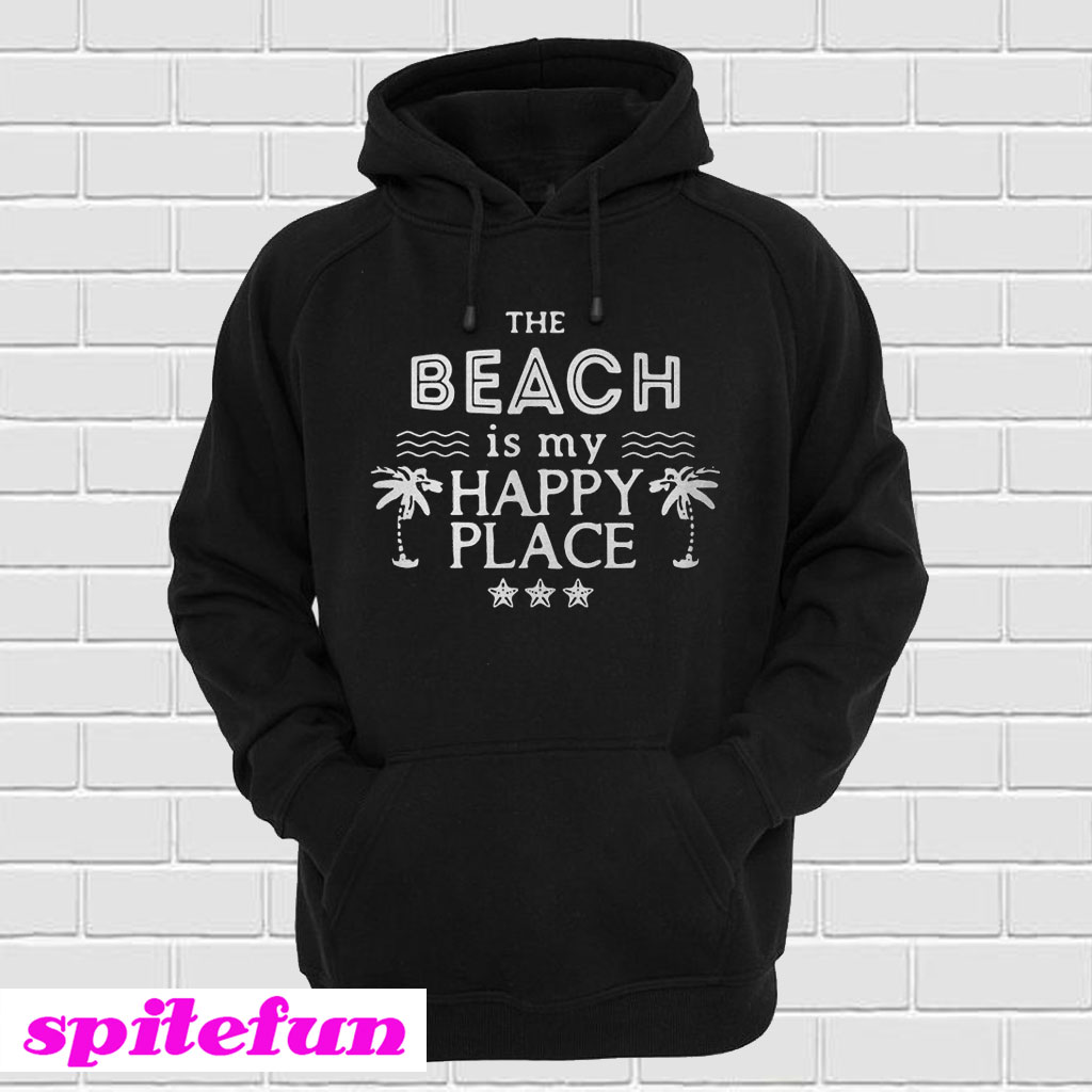 d485504a The beach is my happy place Hoodie