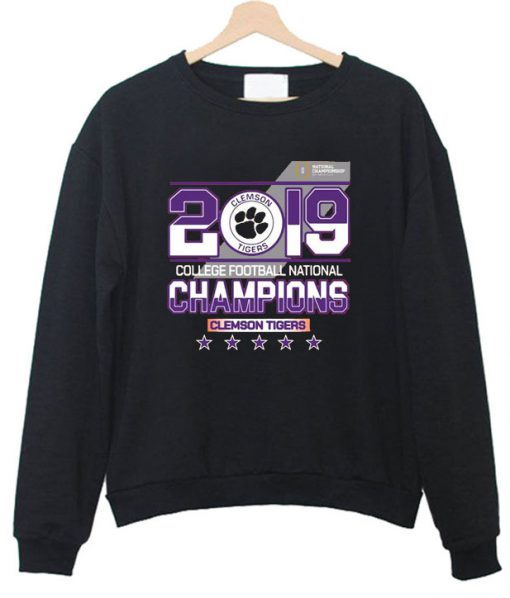 2019 college football National champions Clemson Tigers Sweatshirt