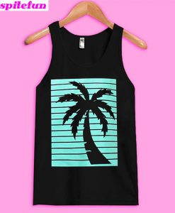 California Republic Turquoise Palm Tank top