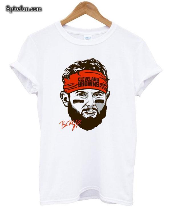 Baker Mayfield Face Cleveland Browns T shirt