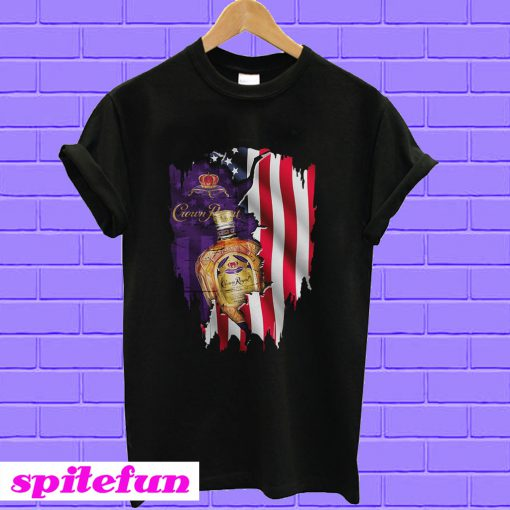 Independence day 4th of July Crown Royal America Flag T-shirt
