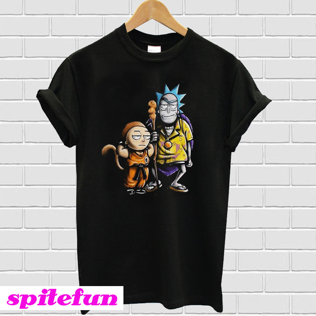 035005d7 Rick And Morty Dragon Ball Z T-shirt