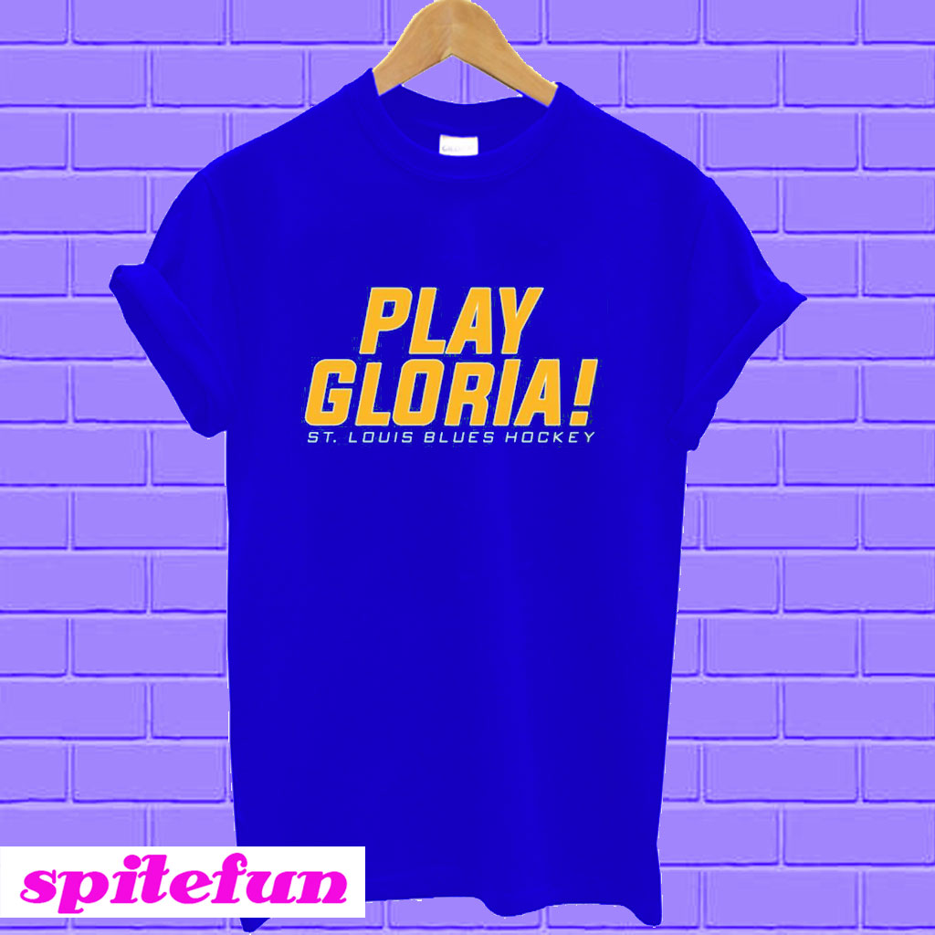 91ae32253 St Louis Blues Play Gloria T-shirt