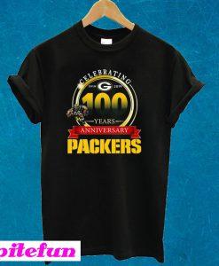Celebrating 100 Years Anniversary Green Bay Packers T-shirt