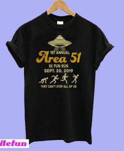 1ST Annual Area 51 5k fun run Sept 20 2019 T-shirt