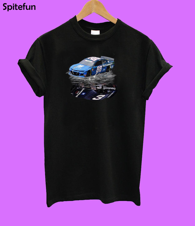 Dale Earnhardt Jr. Car water mirror reflection T-shirt