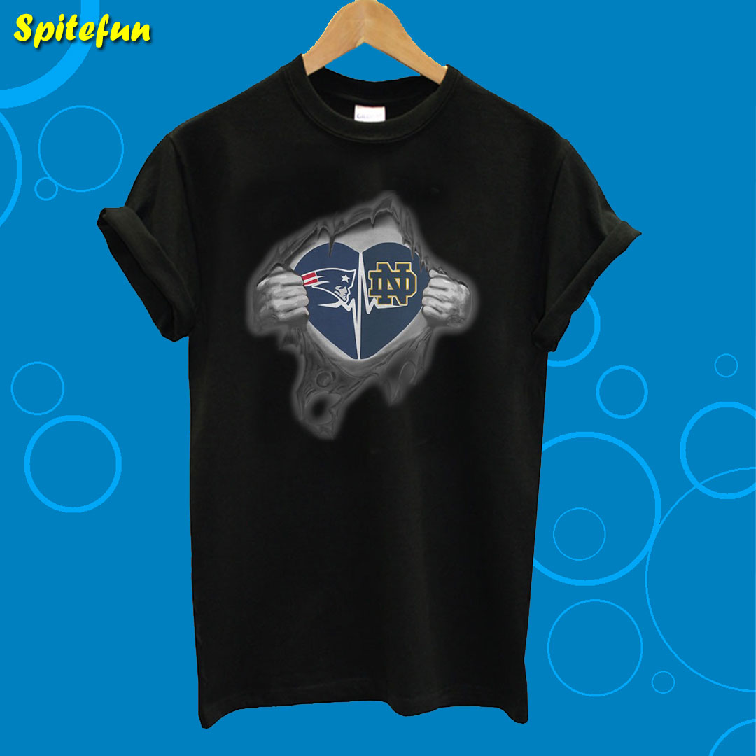 Patriots Notre Dame It's In My Heart Inside Me T-Shirt