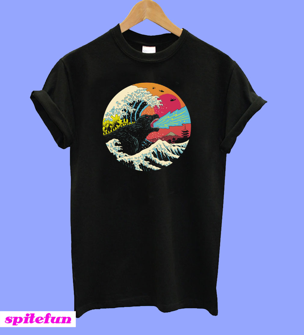 Retro Wave Kaiju T-Shirt