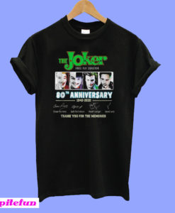 The Joker free fly Coaster 80th anniversary 1940 2020 signatures T-Shirt