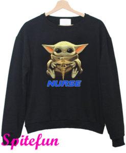 Baby Yoda And Nurse Sweatshirt