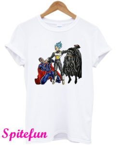 Vegeta VS Superman And Batman T-Shirt