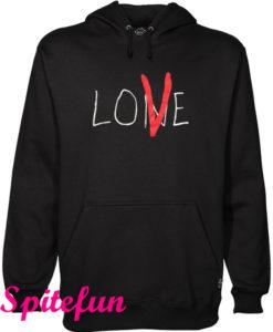 Vlone 'Lone Love' NYC Red on Black Hoodie