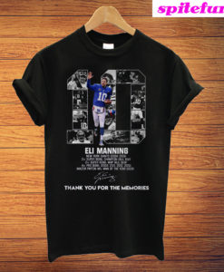 10 Eli Manning New York Giants 2004-2019 Thank You For The Memories T-Shirt