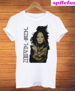 1990 RARE Janet Jackson '90 Rhythm T-Shirt